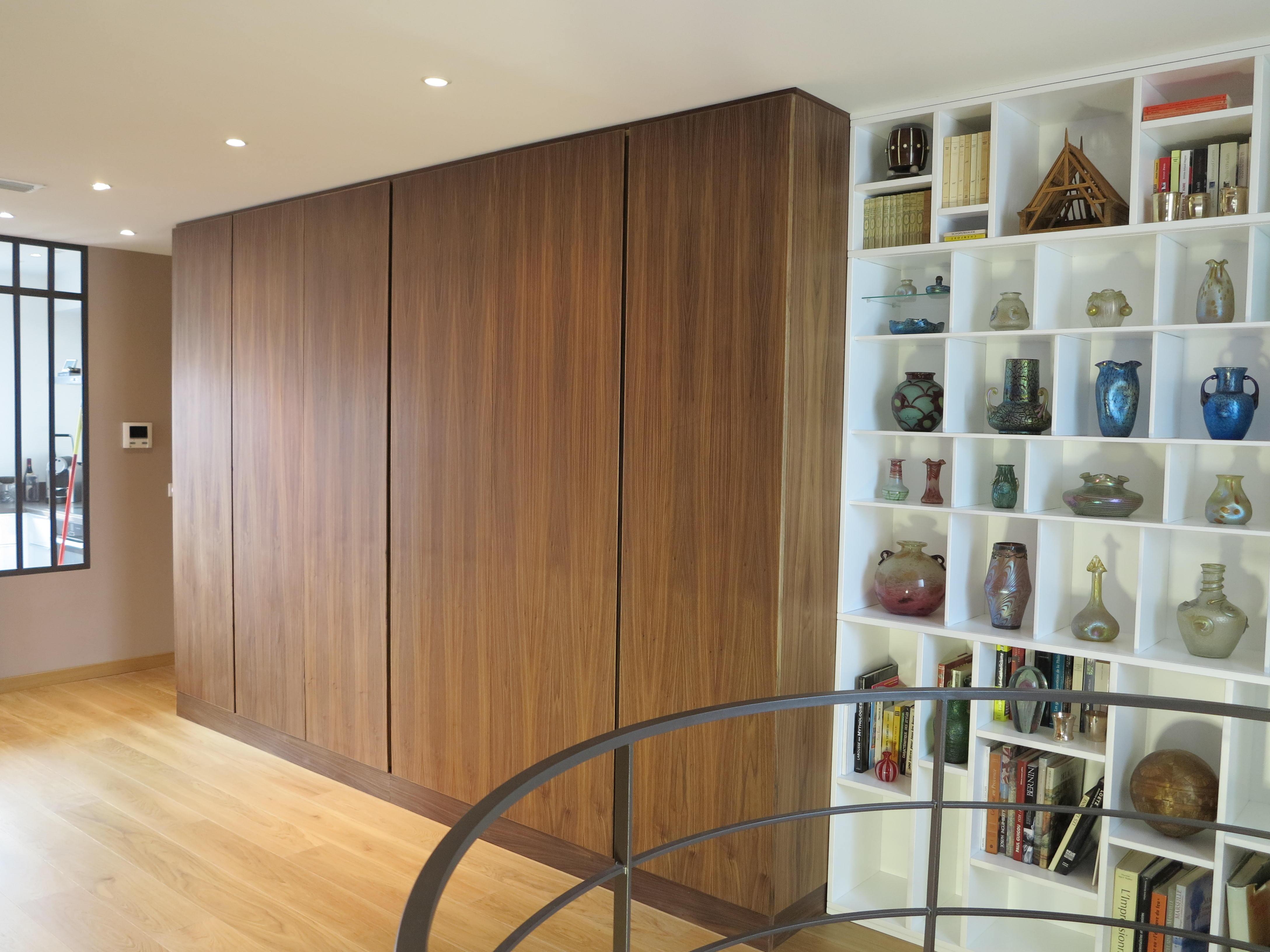 dressing et biblioth que raboniak mobilier design. Black Bedroom Furniture Sets. Home Design Ideas