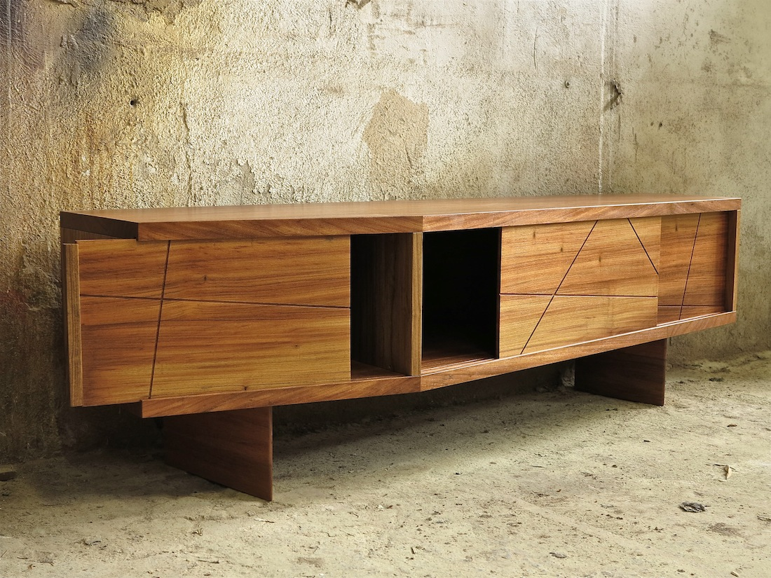 Meuble Tv Freijo Raboniak Mobilier Design # Meuble Tv Triangulaire