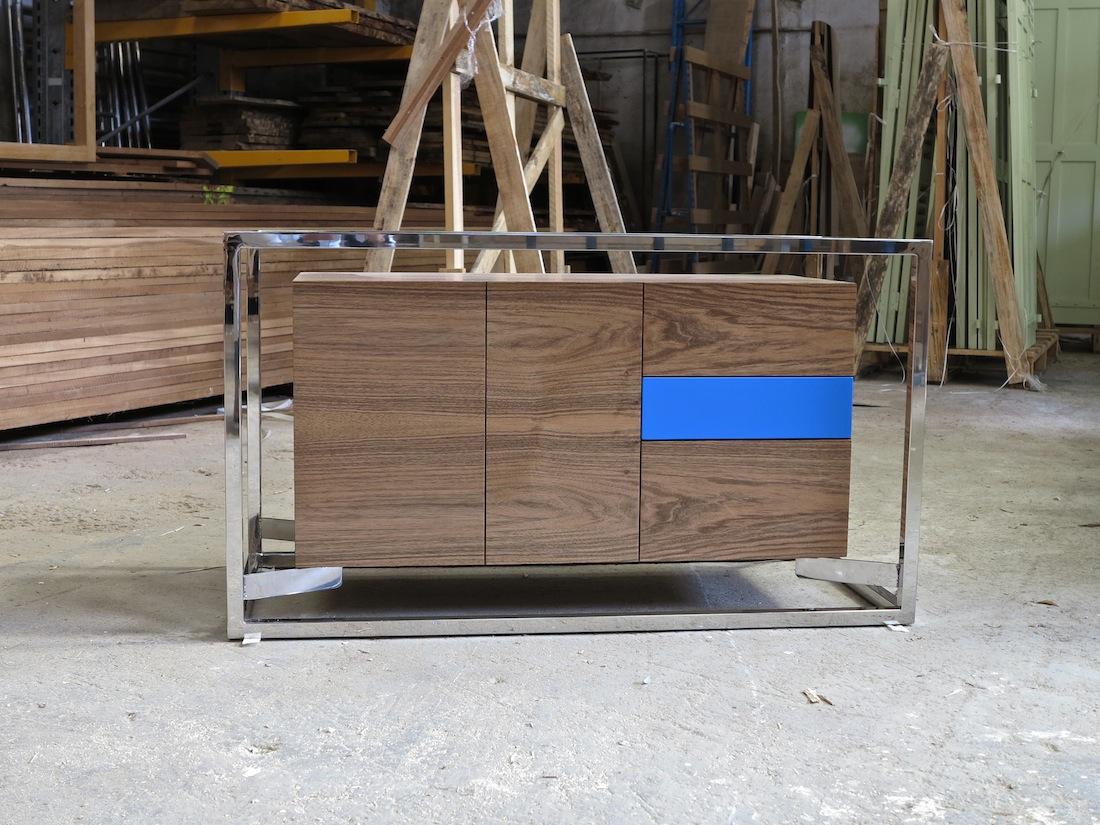 Cabinet Cab 01 Inox/Noyer 1