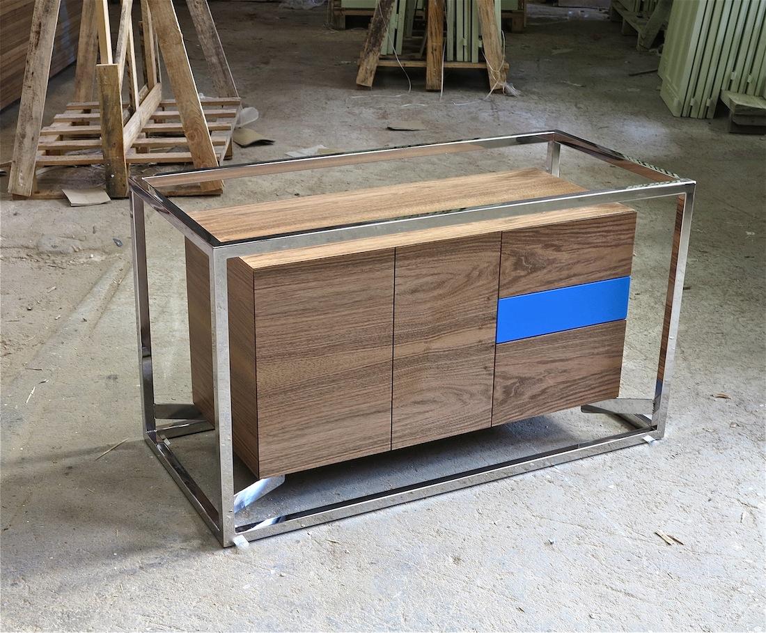 Cabinet cab 01 Inox/Noyer 3