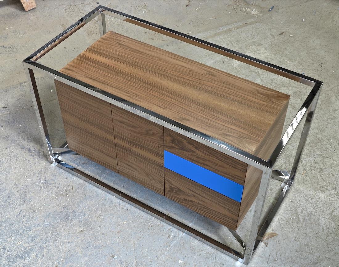 Cabinet cab 01 Inox Noyer 4