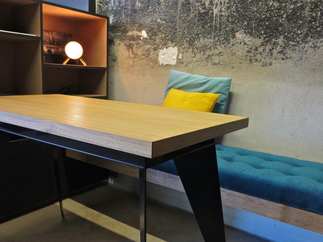 mobilier metal design elegant trendy tf gamme soft bench design lucile soufflet photo bisbee. Black Bedroom Furniture Sets. Home Design Ideas